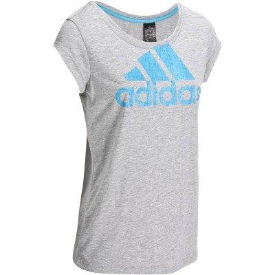 Šedé dámské tričko bez rukávů Adidas