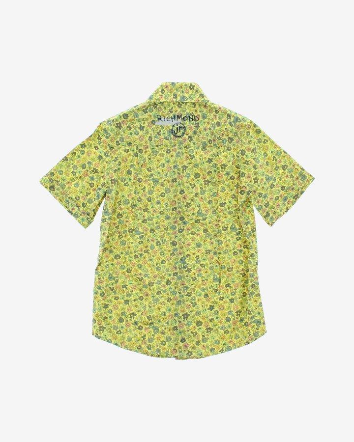 Zelená dívčí košile s krátkým rukávem John Richmond - velikost 116