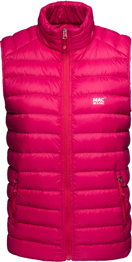 Růžová dámská vesta Mac in a Sac