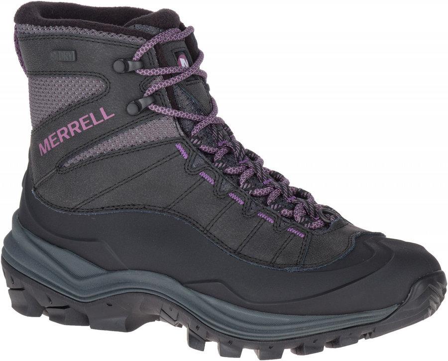 Černé dámské zimní boty Merrell - velikost 37,5 EU