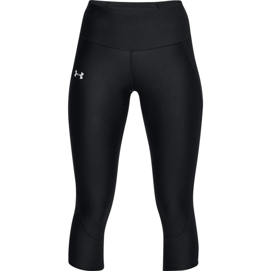 Černé 3/4 dámské běžecké elasťáky Under Armour - velikost XS
