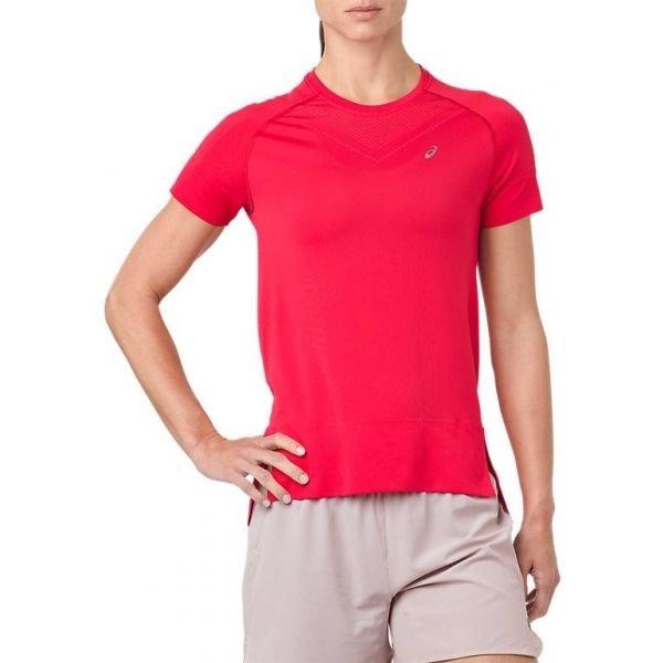 Růžové dámské běžecké tričko Asics