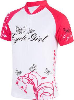 Bílý dětský cyklistický dres Sensor - velikost 150