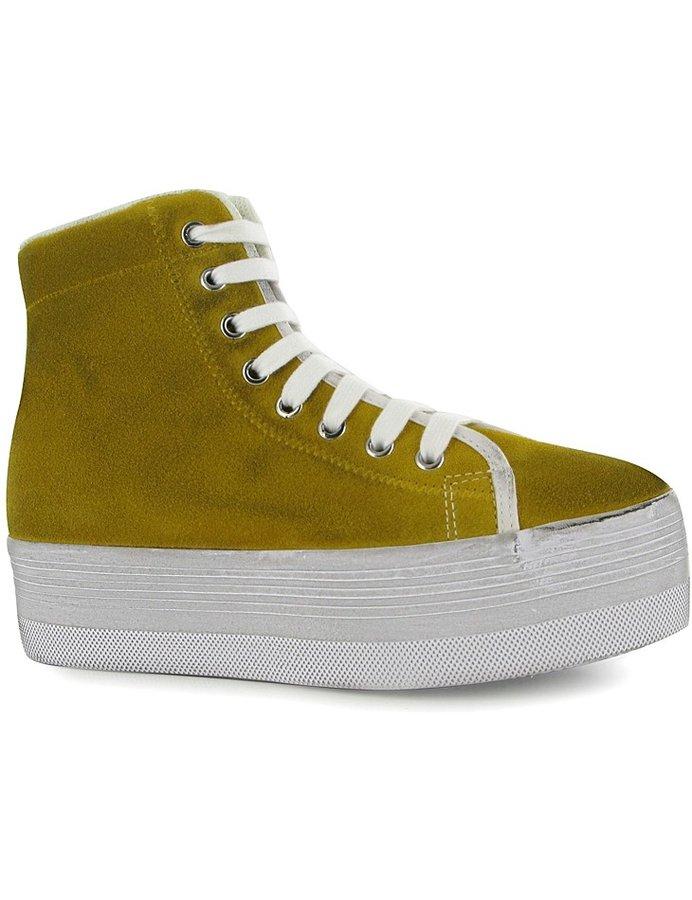 Žluté dámské kotníkové boty Jeffrey Campbell - velikost 36 EU