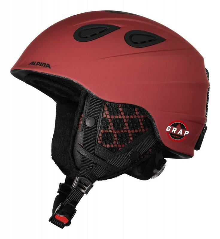 Bílo-červená lyžařská helma Alpina - velikost 54-57 cm