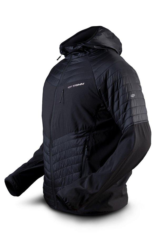 Černá zimní pánská bunda s kapucí Trimm