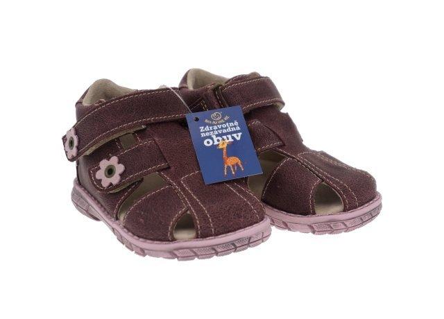 Fialové sandály Pegres