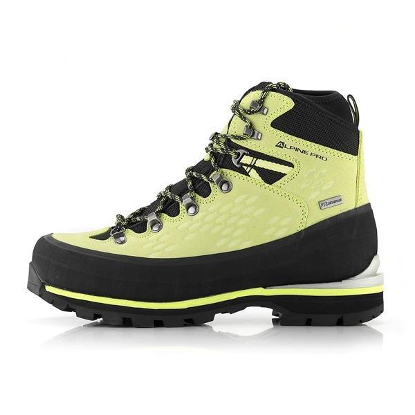 Zelené nepromokavé trekové boty Alpine Pro - velikost 37 EU