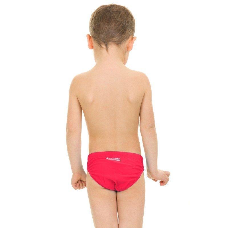 Bílo-červené chlapecké plavky Aqua-Speed - velikost 122