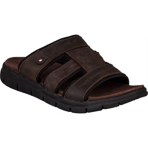 Hnědé pánské pantofle Numero Uno