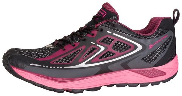Fialovo-růžové dámské běžecké boty Alpine Pro, Alpine Pro