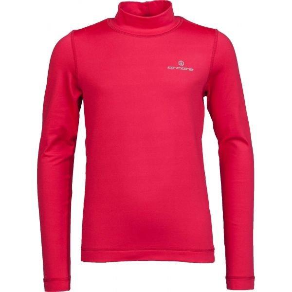 Růžové dívčí funkční tričko s dlouhým rukávem Arcore