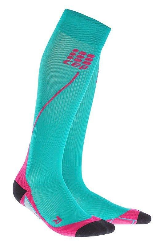 Modré vysoké dámské běžecké ponožky CEP - univerzální velikost