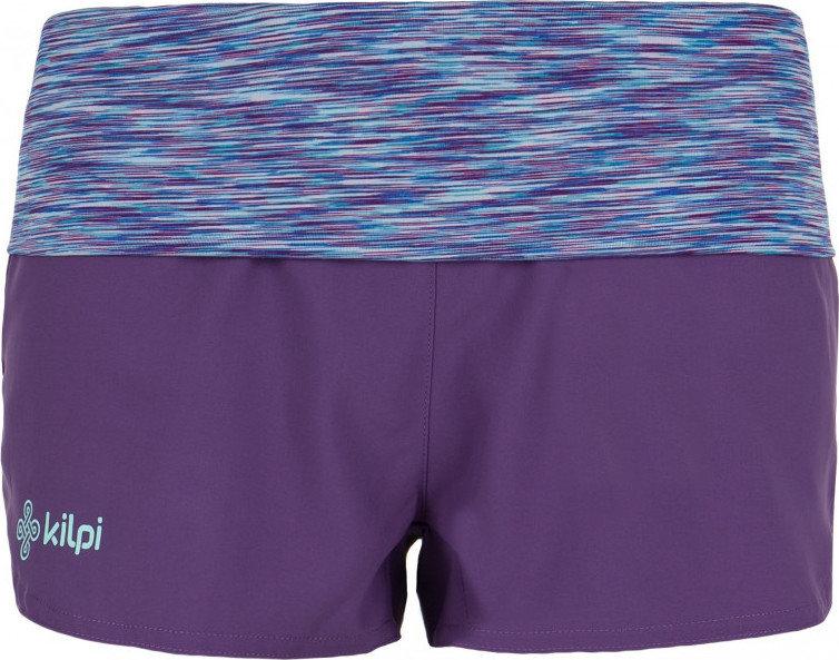 Fialové fitness dámské kraťasy Kilpi - velikost 40