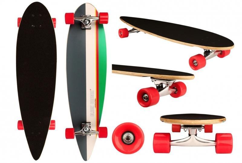 Longboard - longboard Tropical Funk skateboard 36in šedá-bílá