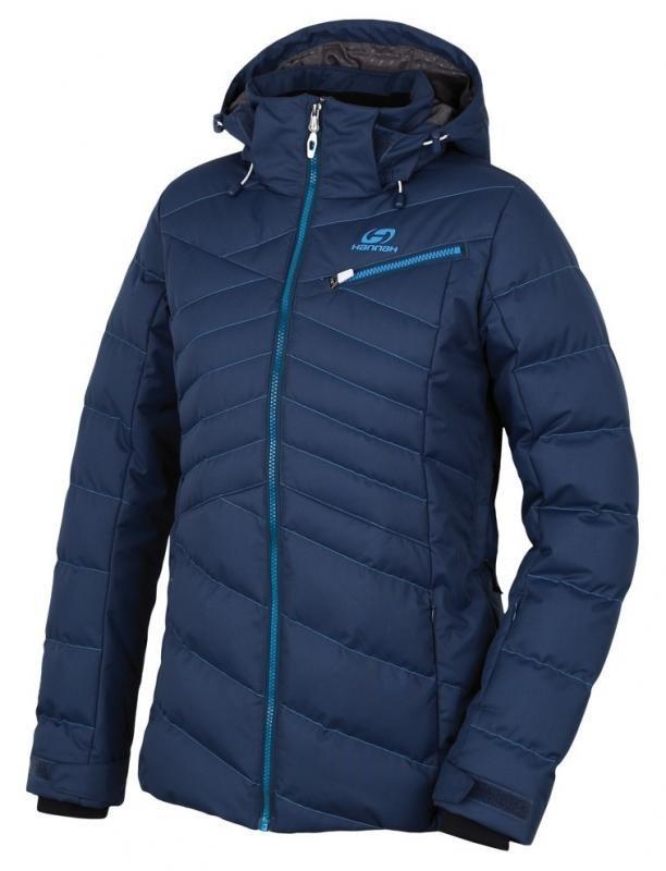 Modrá zimní dámská bunda s kapucí Hannah - velikost 34
