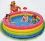Dětský nafukovací nadzemní kruhový bazén INTEX - průměr 168 cm a výška 46 cm