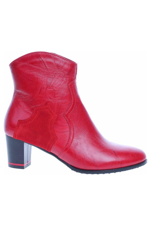 Červené dámské zimní boty Rejnok Dovoz - velikost 39 EU