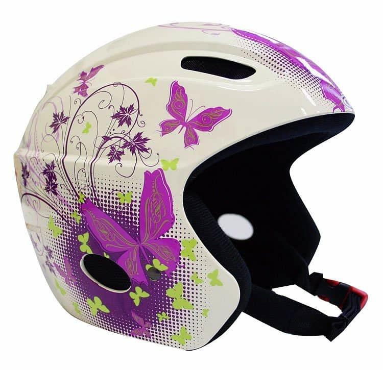 Červená lyžařská helma Worker - velikost 48-54 cm