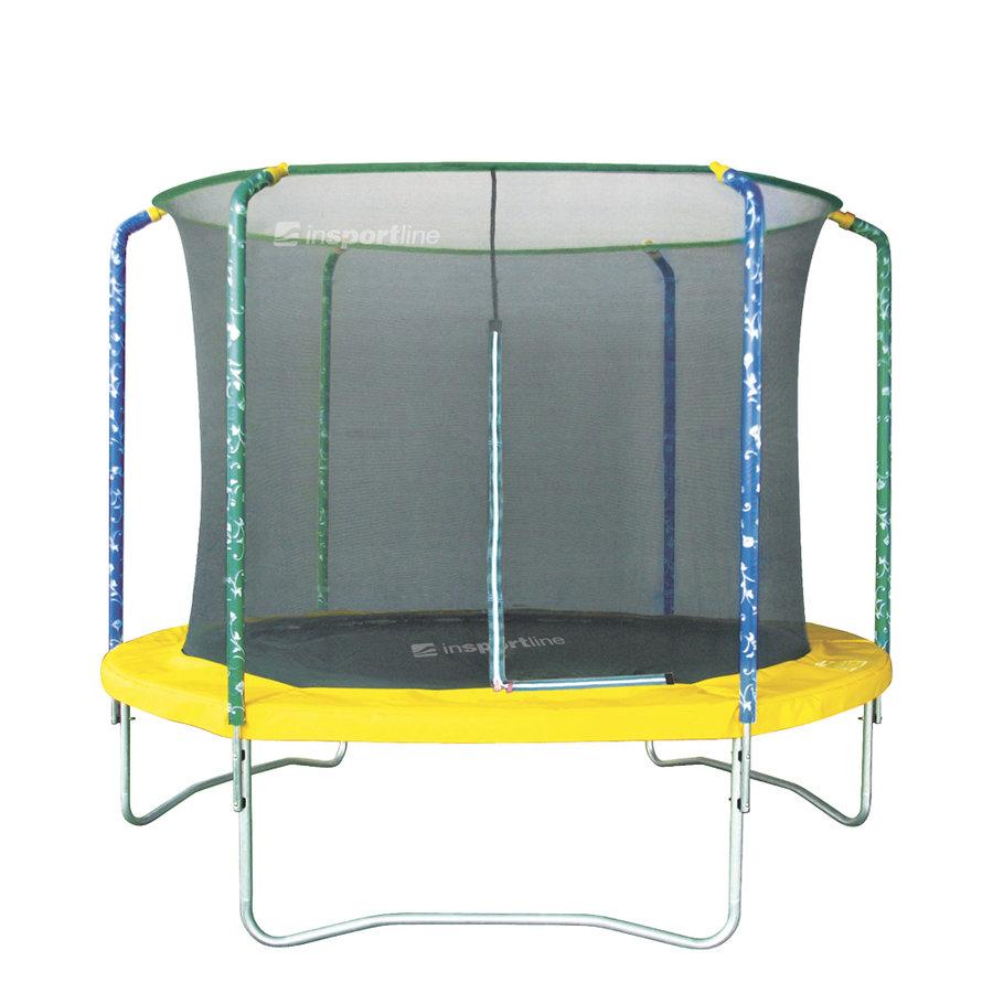 Kruhová trampolína s ochrannou sítí inSPORTline - průměr 305 cm