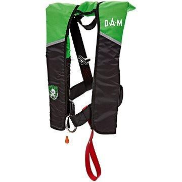 Černo-zelená záchranná vesta MADCAT