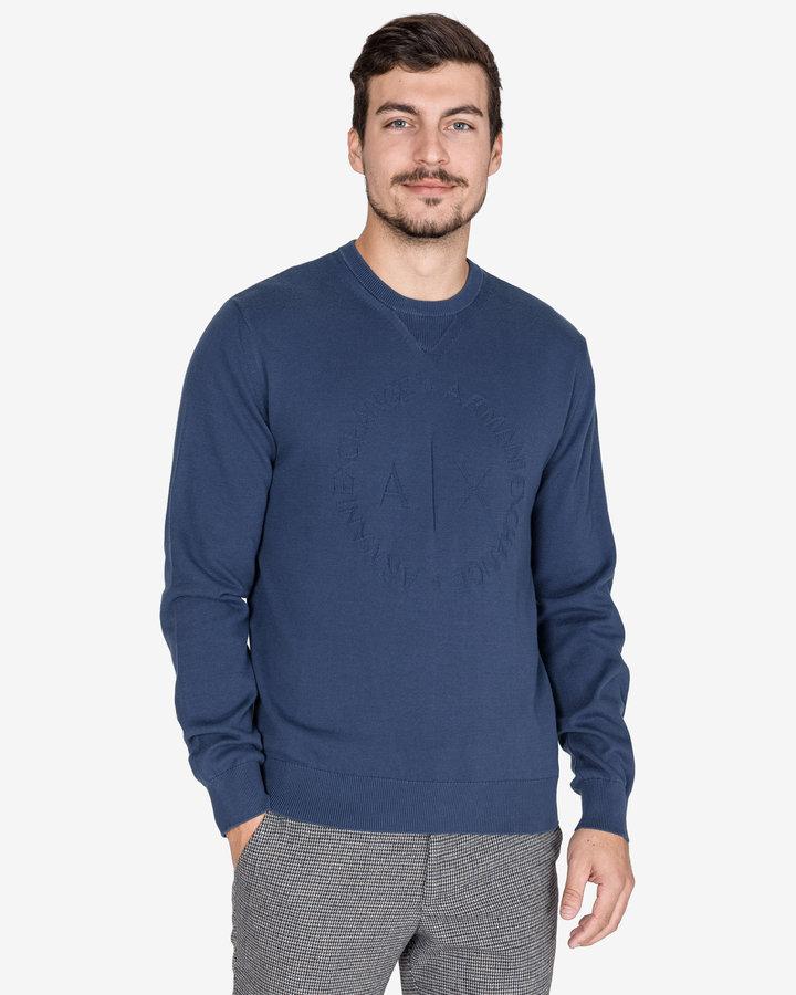 Modrý pánský svetr Armani Exchange - velikost XL
