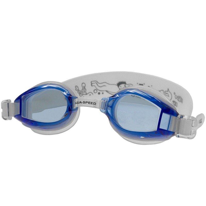 Bílo-modré dětské dívčí nebo chlapecké plavecké brýle Accent, Aqua-Speed