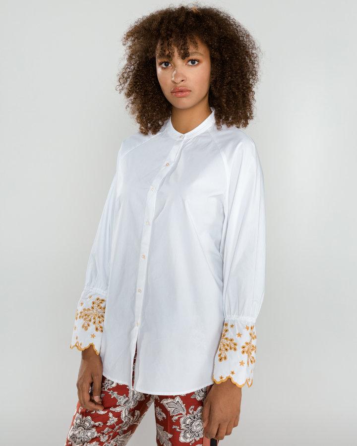 Bílá dámská košile s dlouhým rukávem Scotch & Soda - velikost XS