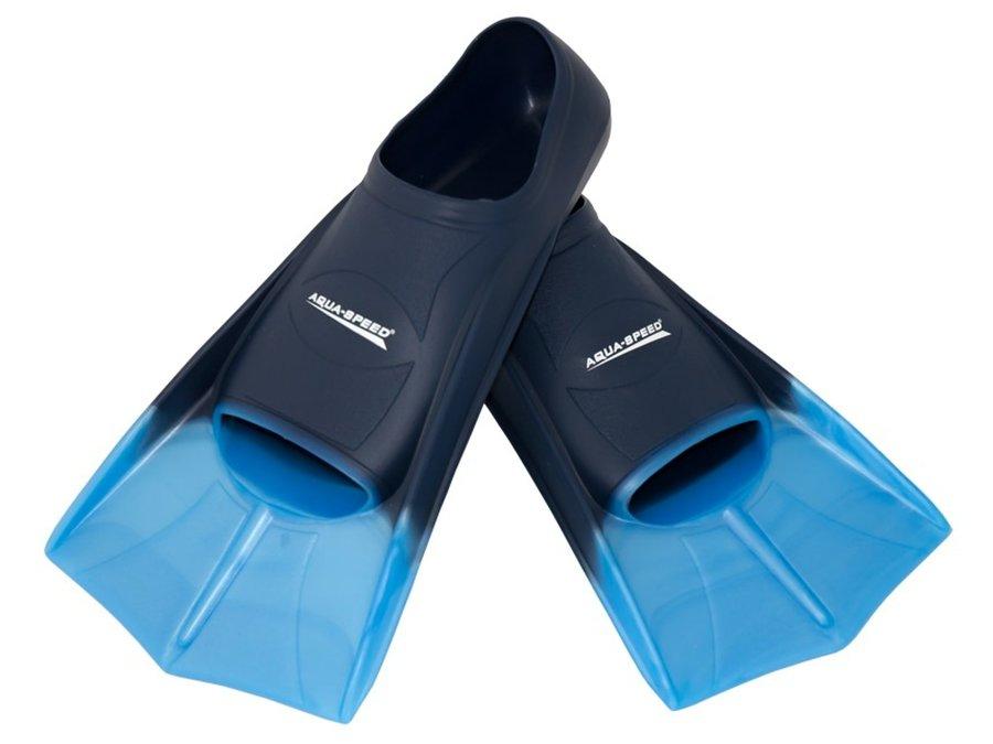 Modré plavecké krátké ploutve Training, Aqua-Speed - velikost 43-44 EU