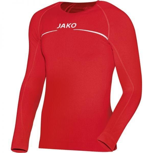 Červené pánské basketbalové tričko s dlouhým rukávem Jako