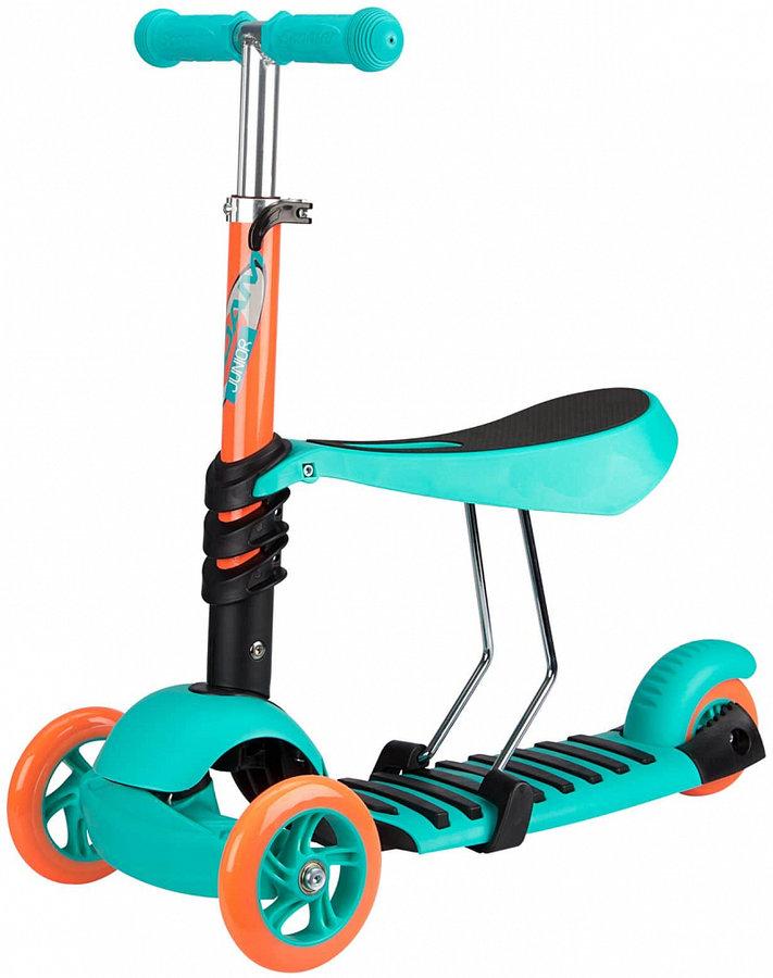 Modrá koloběžka Nijdam - nosnost 50 kg