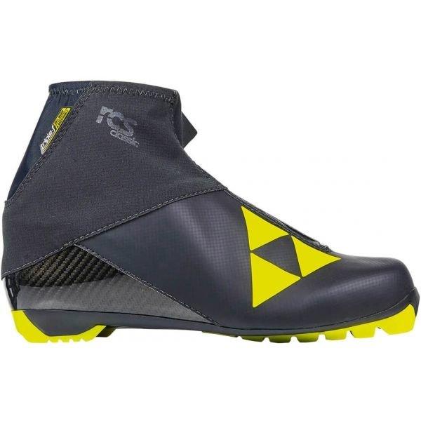 Černo-žluté pánské boty na běžky Fischer