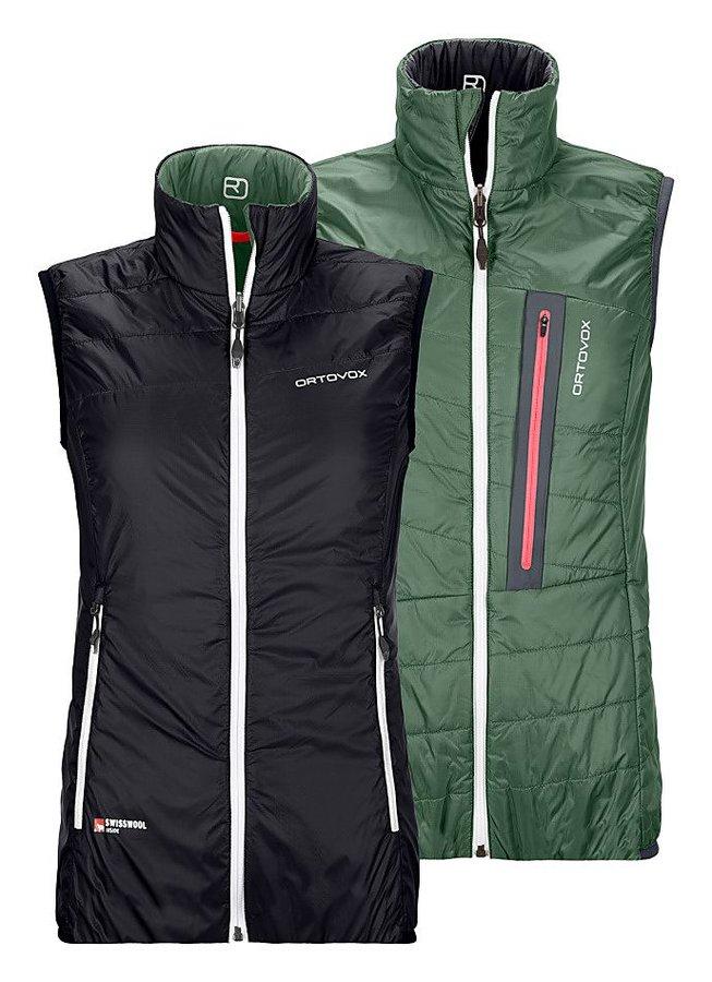 Černo-zelená oboustranná dámská vesta Ortovox