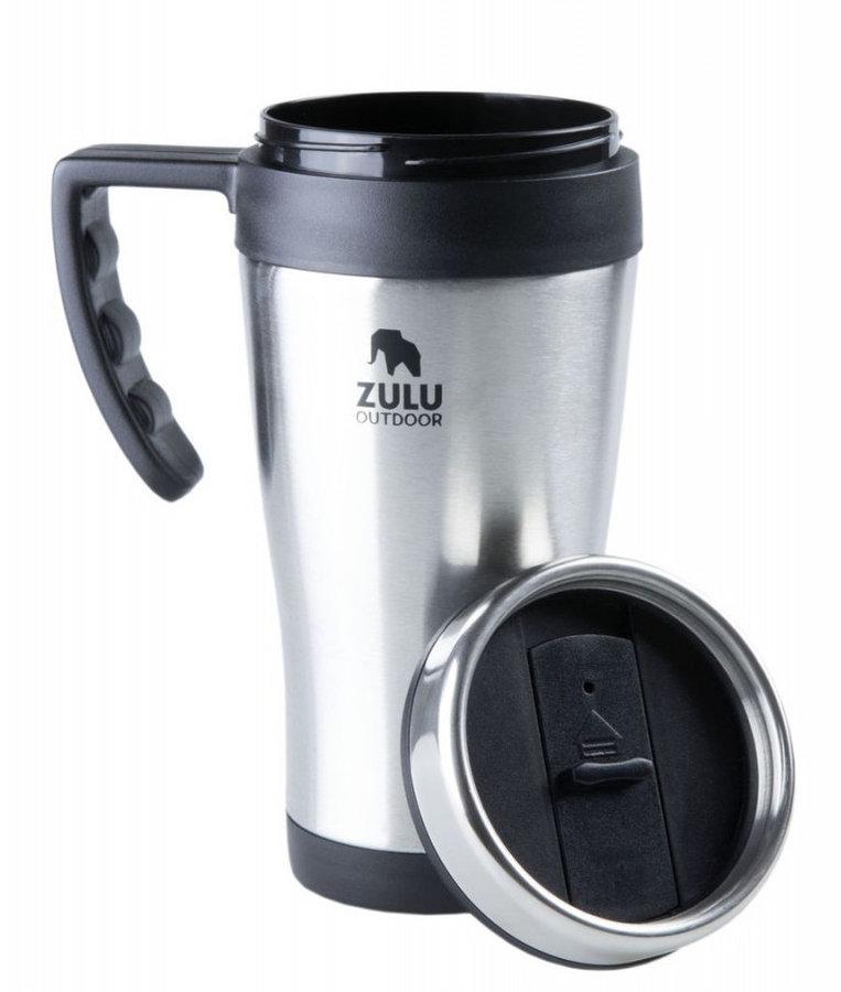Stříbrná termoska na pití Zulu - objem 0,4 l