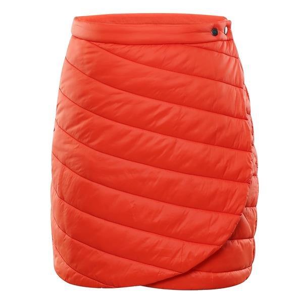 Oranžová zimní dámská sukně Alpine Pro - velikost XS
