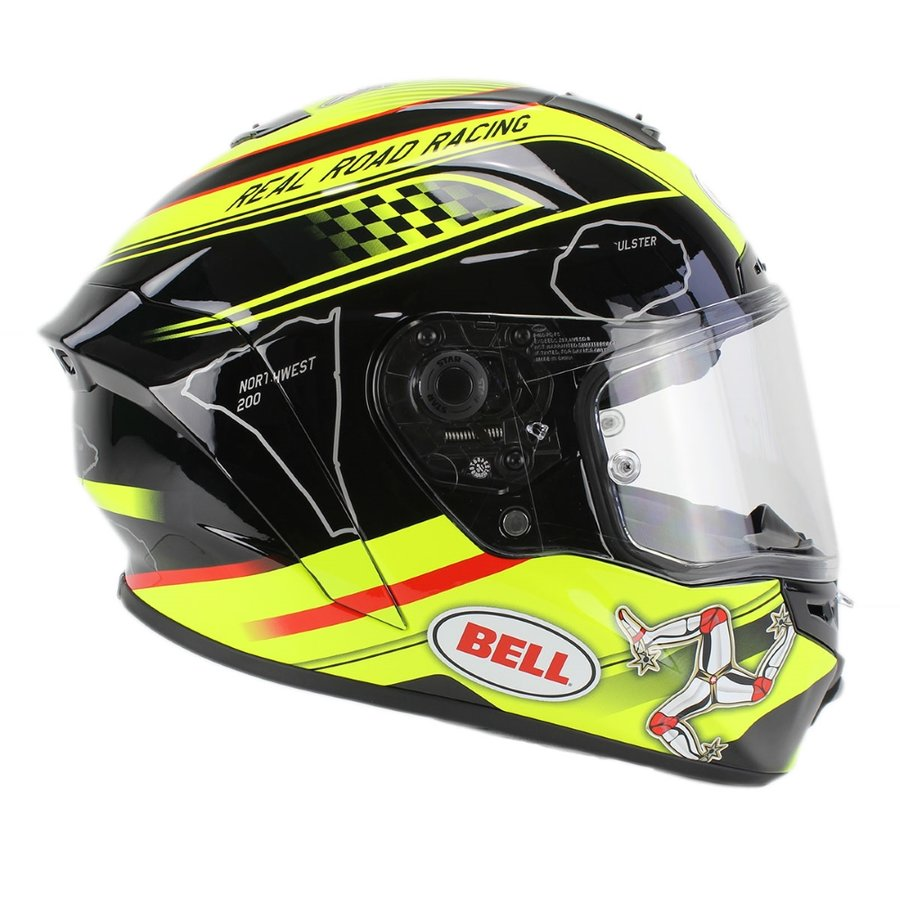 Černo-žlutá unisex helma na motorku Star Isle Of Man, Bell