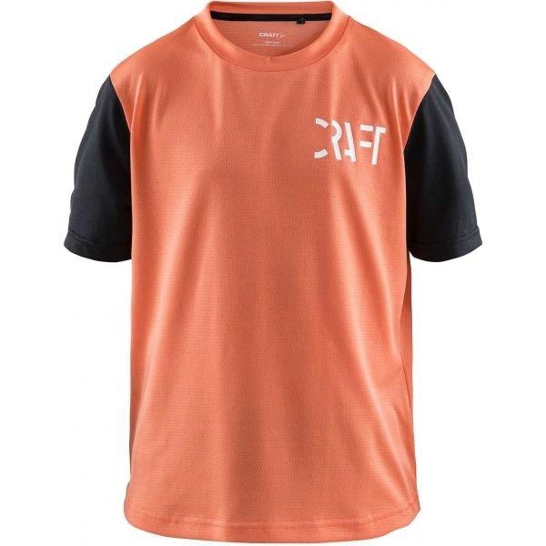 Oranžový dětský cyklistický dres Craft
