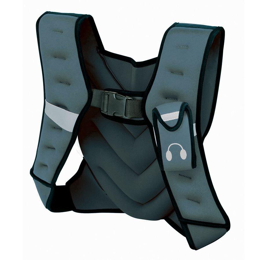 Šedá zátěžová vesta Tunturi - 5 kg
