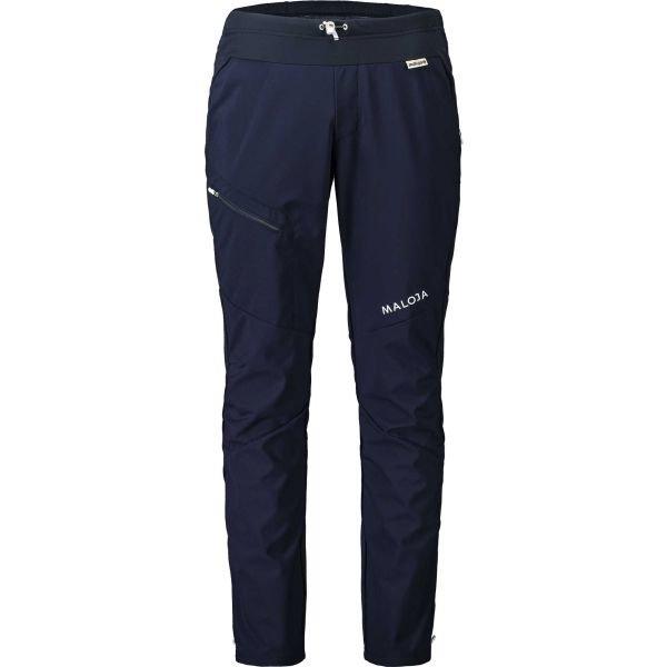 Modré pánské kalhoty na běžky Maloja