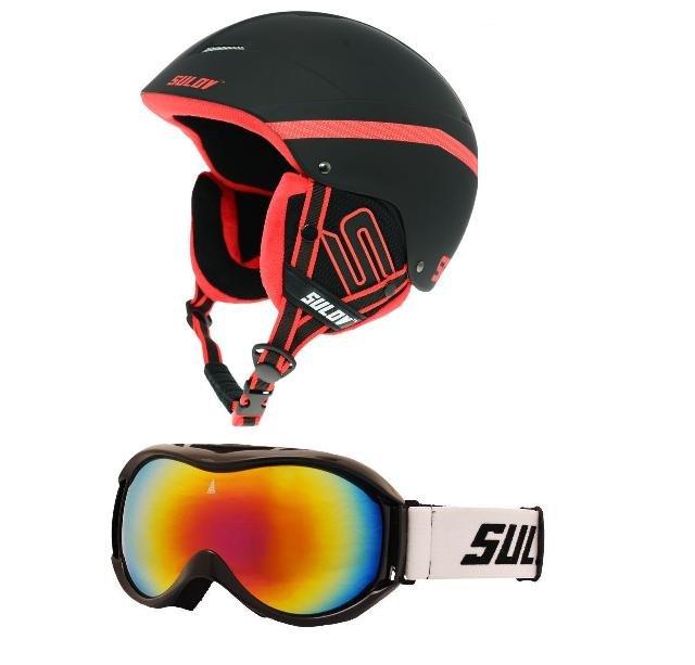 Černá lyžařská helma Sulov
