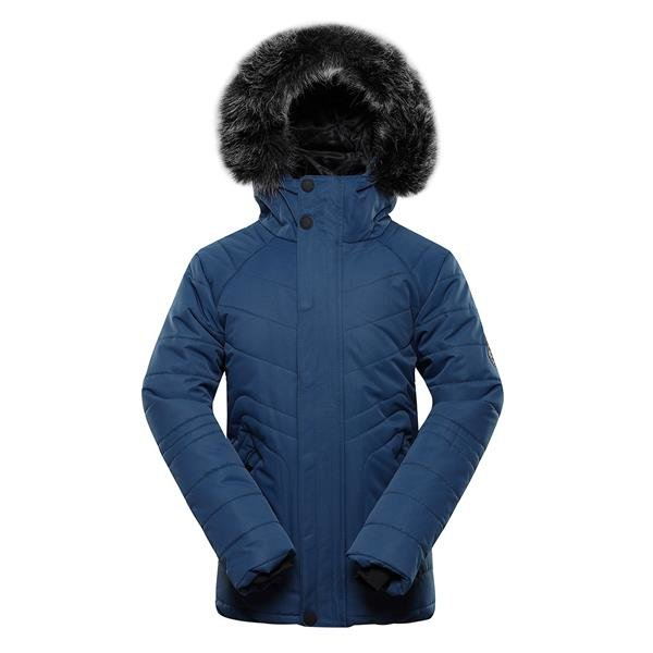 Modrá dětská zimní bunda s kapucí Alpine Pro