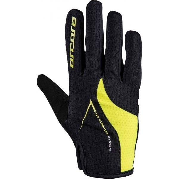 Černo-žluté cyklistické rukavice Arcore - velikost XL