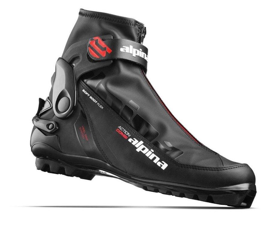 Černé boty na běžky Alpina - velikost 37 EU