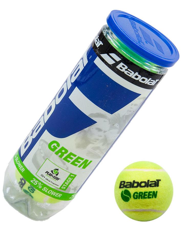 Tenisový míček Green, Babolat - 3 ks