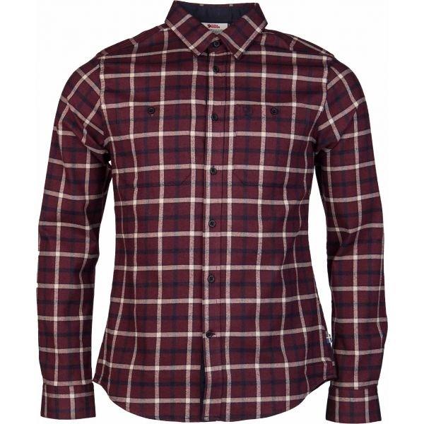 Červená pánská košile s dlouhým rukávem Fjällräven - velikost L