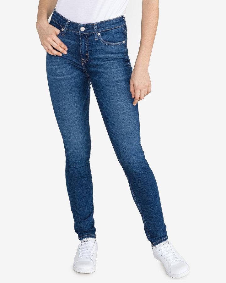 Modré dámské džíny Calvin Klein - velikost 26