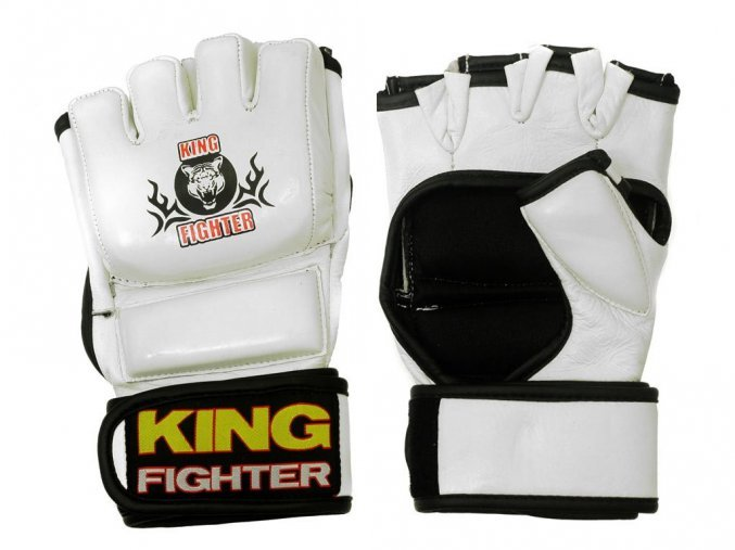 MMA rukavice - KING FIGHTER MMA rukavice Champion white Velikost: L