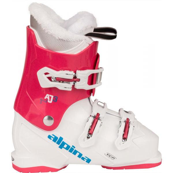 Bílo-růžové lyžařské boty Atomic