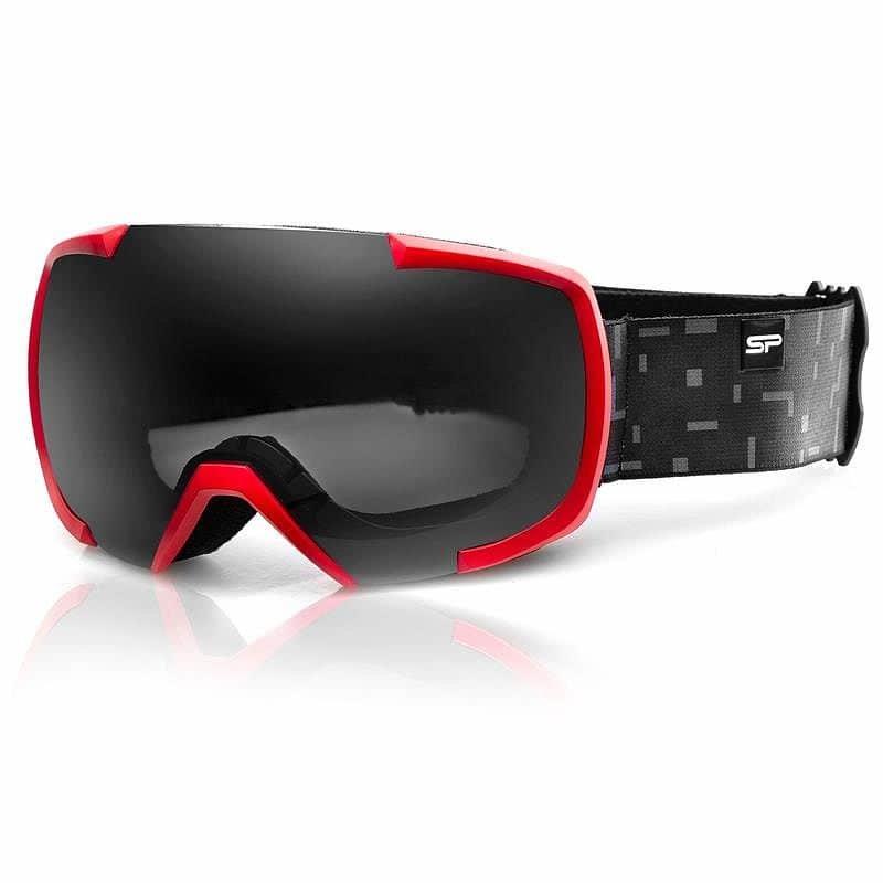 Červeno-šedé lyžařské brýle Spokey