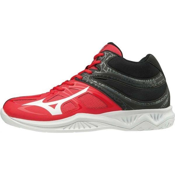 Černo-červené pánské boty na volejbal Mizuno